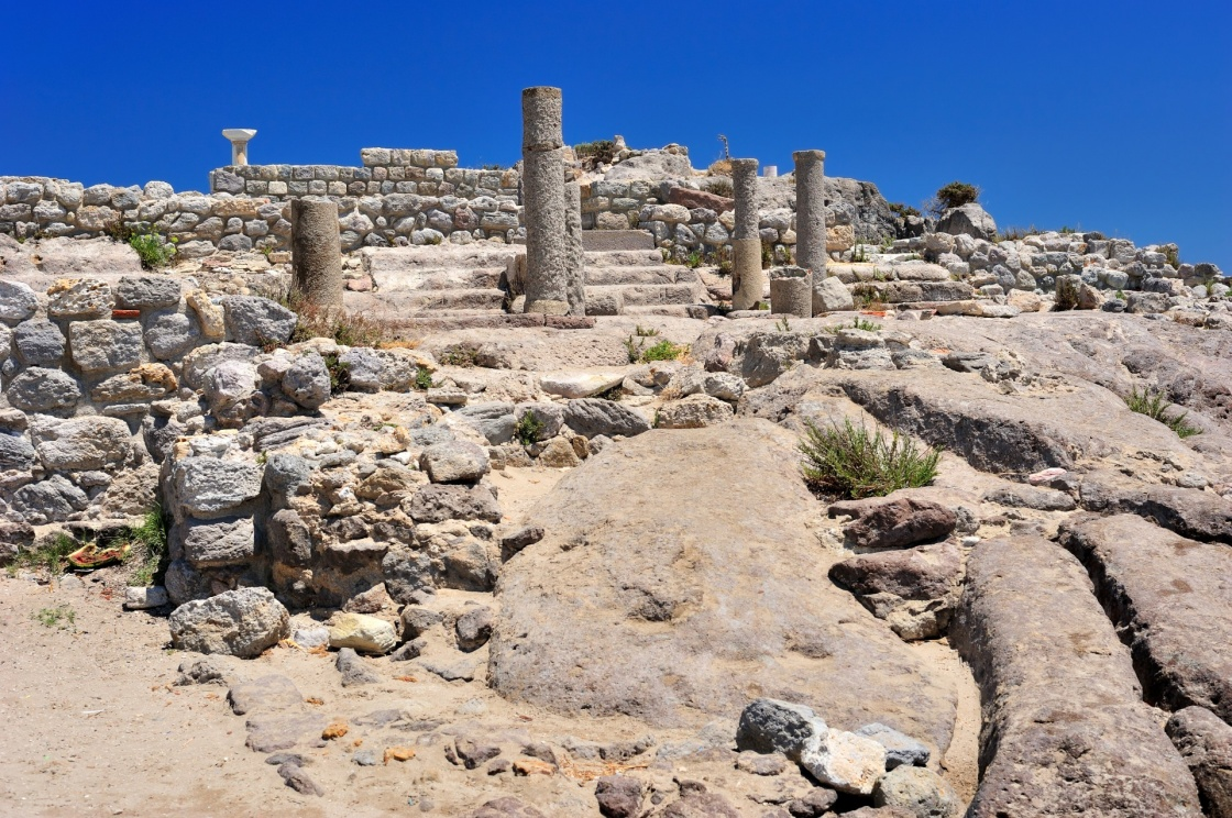 'Ruins of ancient town Astipalea in Kefalos (Kos island, Greece)' - Κως
