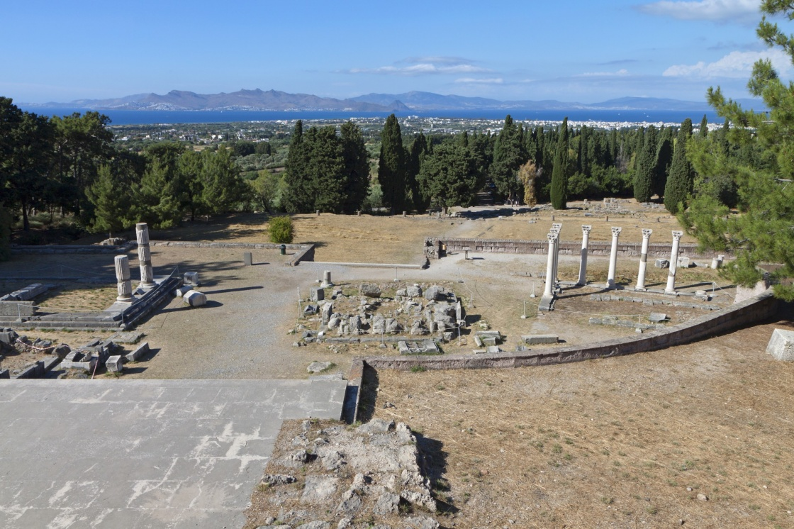 'Ancient site of Asclepeion at Kos island in Greece' - Κως